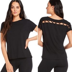 FABLETICS Lace Back Eyelet Top